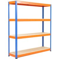 Rapid 1 Standard Shelving With 4 Chipboard Shelves 1525wx1980h (Blue/orange). Find Loads More Colours, Materials & Styles Online