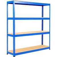 Rapid 1 Standard Shelving With 4 Chipboard Shelves 1830wx1980h (Blue). Find Loads More Colours, Materials & Styles Online - Buy