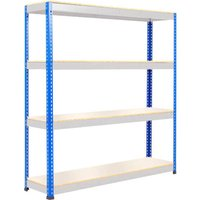 Rapid 1 Standard Shelving With 4 Melamine Shelves 1830wx1980h (Blue/grey). Find Loads More Colours, Materials & Styles Online -