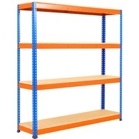 Rapid 1 Standard Shelving With 4 Chipboard Shelves 1830wx1980h (Blue/orange). Find Loads More Colours, Materials & Styles On