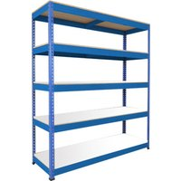 Rapid 1 Standard Shelving With 5 Melamine Shelves 1525wx2440h (Blue). Find Loads More Colours, Materials & Styles Online - B