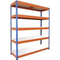 Rapid 1 Standard Shelving With 5 Melamine Shelves 1525wx2440h (Blue/orange). Find Loads More Colours, Materials & Styles Onl