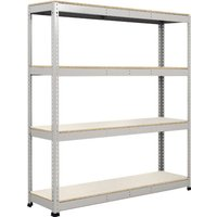 Rapid 1 Standard Shelving With 4 Melamine Shelves 1830wx2440h (Grey). Find Loads More Colours, Materials & Styles Online - Buy O