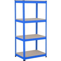 Rapid 1 Heavy Duty Shelving With 4 Chipboard Shelves 915wx1980h (Blue). Find Loads More Colours, Materials & Styles Online - Buy