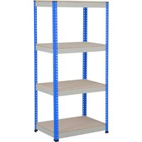 Rapid 1 Heavy Duty Shelving With 4 Chipboard Shelves 915wx1980h (Blue/grey). Find Loads More Colours, Materials & Styles Online