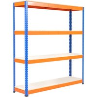 Rapid 1 Heavy Duty Shelving With 4 Melamine Shelves 1830wx1980h (Blue/orange). Find Loads More Colours, Materials & Styles O