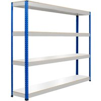 Rapid 1 Heavy Duty Shelving With 4 Melamine Shelves 2440wx1980h (Blue/grey). Find Loads More Colours, Materials & Styles Online