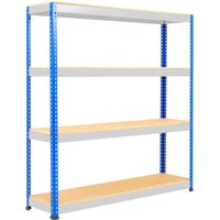 Rapid 1 Heavy Duty Shelving With 4 Chipboard Shelves 1525wx2440h (Blue/grey). Find Loads More Colours, Materials & Styles On
