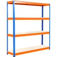 Rapid 1 Heavy Duty Shelving With 4 Melamine Shelves 1525wx2440h (Blue/orange). Find Loads More Colours, Materials & Styles O