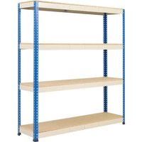 Rapid 1 Heavy Duty Shelving With 4 Chipboard Shelves 1830wx2440h (Blue/grey). Find Loads More Colours, Materials & Styles Online