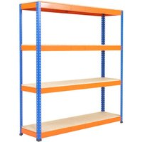 Rapid 1 Heavy Duty Shelving With 4 Chipboard Shelves 1830wx2440h (Blue/orange). Find Loads More Colours, Materials & Styles Onli
