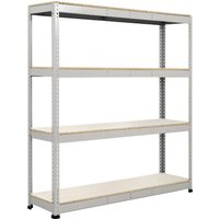 Rapid 1 Heavy Duty Shelving With 4 Melamine Shelves 1830wx2440h (Grey). Find Loads More Colours, Materials & Styles Online - Buy