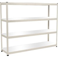 Rapid 1 Heavy Duty Shelving With 4 Melamine Shelves 2440wx2440h (Grey). Find Loads More Colours, Materials & Styles Online - Buy