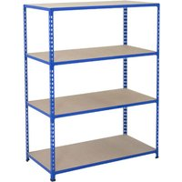 Rapid 2 Shelving With 4 Chipboard Shelves 1525wx1600h (Blue). Find Loads More Colours, Materials & Styles Online - Buy Office Fu