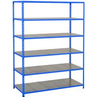 Rapid 2 Shelving With 6 Galvanized Shelves 1525wx1600h (Blue). Find Loads More Colours, Materials & Styles Online - Buy Offi