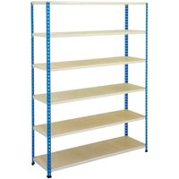 Rapid 2 Shelving With 6 Chipboard Shelves 1220wx1980h (Blue/grey). Find Loads More Colours, Materials & Styles Online - Buy