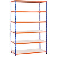 Rapid 2 Shelving With 6 Melamine Shelves 1525wx1980h (Blue/orange). Find Loads More Colours, Materials & Styles Online - Buy Off