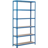 Rapid 2 Shelving With 6 Chipboard Shelves 915wx2440h (Blue). Find Loads More Colours, Materials & Styles Online - Buy Office