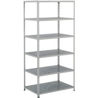 Rapid 2 Shelving With 6 Galvanized Shelves 915wx2440h (Grey). Find Loads More Colours, Materials & Styles Online - Buy Offic