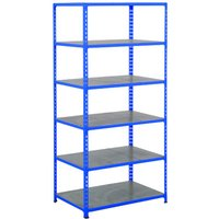 Rapid 2 Shelving With 6 Galvanized Shelves 1220wx2440h (Blue). Find Loads More Colours, Materials & Styles Online - Buy Offi