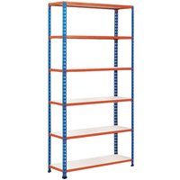 Rapid 2 Shelving With 6 Melamine Shelves 1220wx2440h (Blue/orange). Find Loads More Colours, Materials & Styles Online - Buy Off