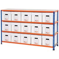 Rapid 2 Economy Document Storage With 15 Boxes. Find Loads More Colours, Materials & Styles Online - Buy Office Furniture On