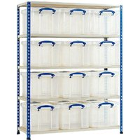 Rapid 2 Storage Bay With 12 X 35 Litre Really Useful Boxes. Find Loads More Colours, Materials & Styles Online - Buy Office