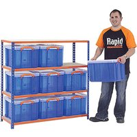 Rapid 2 Storage Bay With 9 X 35 Litre Really Useful Boxes. Find Loads More Colours, Materials & Styles Online - Buy Office F