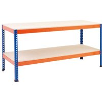 Rapid 1 Heavy Duty Workbench (Blue/orange). Find Loads More Colours, Materials & Styles Online - Buy Office Furniture Online