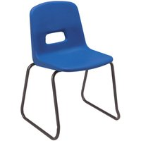 8 X Red Reinspire Rf70 Skid Base Classroom Chair. Find Loads More Colours, Materials & Styles Online - Buy Office Furniture