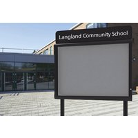 Weathershield Headline Freestanding Outdoor Sign. Find Loads More Colours, Materials & Styles Online - Buy Office Furniture Onli