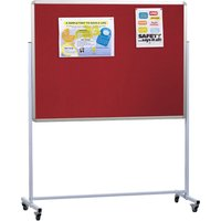 Double Sided Mobile Aluminium Noticeboard. Find Loads More Colours, Materials & Styles Online - Buy Office Furniture Online
