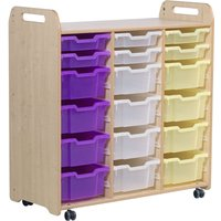 Playscapes Tray Storage Unit With 6 Shallow And 12 Deep Trays. Find Loads More Colours, Materials & Styles Online - Buy Offi