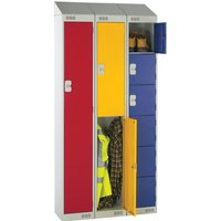 Green Deluxe Sloping Top Locker. Find Loads More Colours, Materials & Styles Online - Buy Office Furniture Online