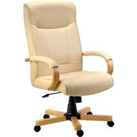 Cream Knightsbridge Executive Chair Oak/cream. Size: 55/51/49. Find Loads More Colours, Materials & Styles Online - Buy Offi