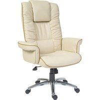 Cream Roma Cream Leather Faced Executive Chair. Find Loads More Colours, Materials & Styles Online - Buy Office Furniture Online