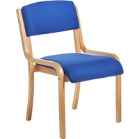 Harmony Wood Framed Stacking Side Chair, Blue