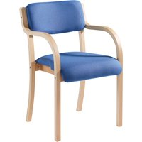Harmony Wood Framed Stacking Armchair, Blue