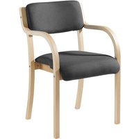 Harmony Wood Framed Stacking Armchair, Charcoal