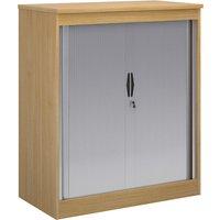 Multi Storage Tambour Cupboards, 102wx55dx120h (cm), Oak