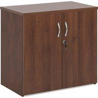 Double Door Cupboards, 1 Shelf - 80wx47dx74h (cm), Walnut