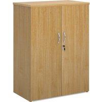 Double Door Cupboards, 2 Shelf - 80wx47dx109h (cm), Oak