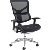 Merideth Ergonomic 24HR Mesh Operator Chair, Black