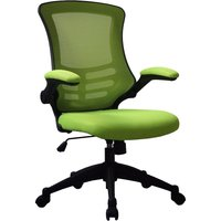 Moon Mesh Back Operator Chair With Black Base (Lime Green), Lime Green