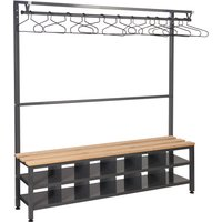 QMP Island Bench With Clothes Rail and Shoe Storage