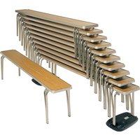 Gopak Economy Stacking Bench, 122wx25d (cm), Oak