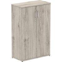 Vitali Cupboards, 2 Shelf - 80wx40dx120h (cm), Grey Oak