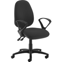 Gilmour High Back Operator Chair (Fixed Arms), Black