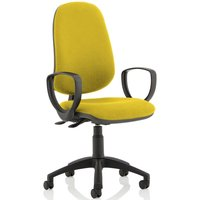 Lunar 2 Lever Operator Chair (Fixed Arms), Senna Yellow
