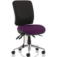 Praktikos Two Tone Medium Back Posture Operator Chair, Tansy Purple